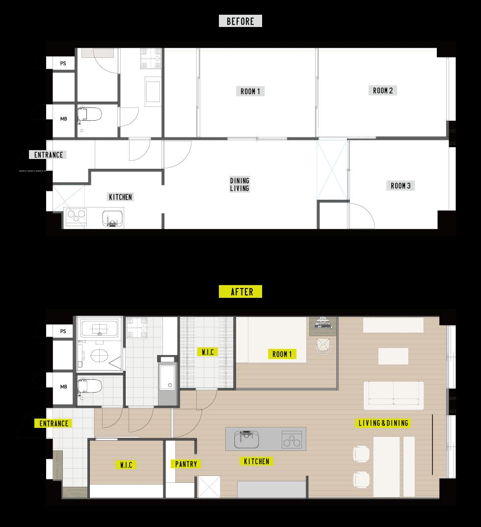 福岡市中央区T様邸マンションリノベーション